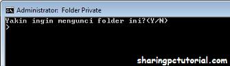 cara mengunci folder di laptop tanpa software