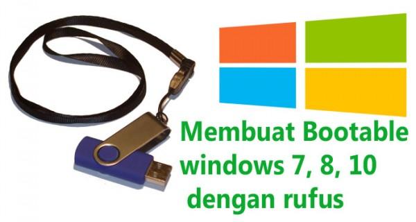 cara membuat bootable windows 7 dengan rufus