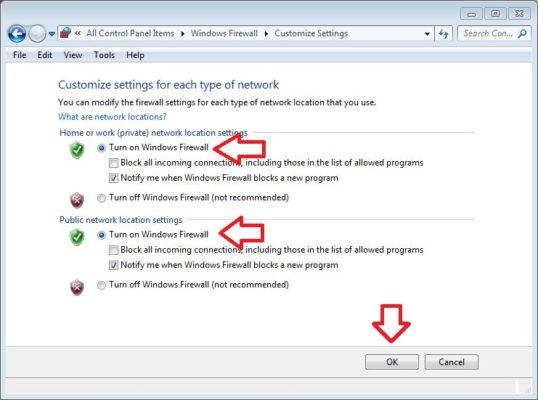 cara mengaktifkan windows firewall