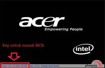 cara masuk bios pada laptop acer