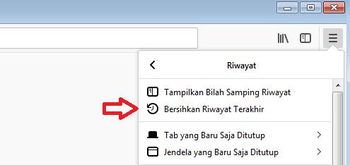 Cara menghapus cache di browser firefox