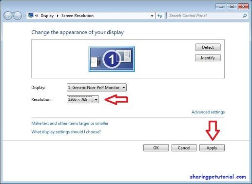 Cara mengubah resolusi layar komputer windows 7