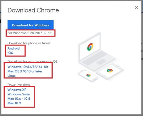 cara download chrome offline installer