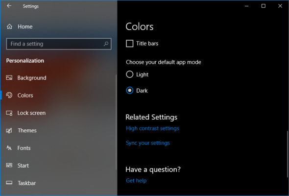 cara mengaktifkan dark mode di windows 10