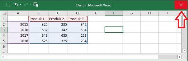 cara membuat grafik di word