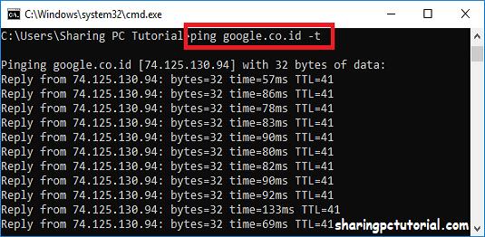 cara cek ping internet