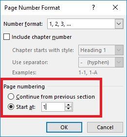 cara membuat nomor halaman berbeda di dokumen word yang sama