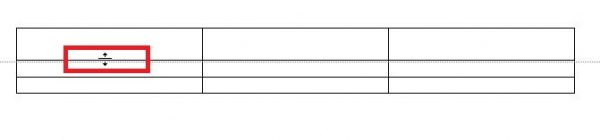 mengatur tinggi kolom tabel