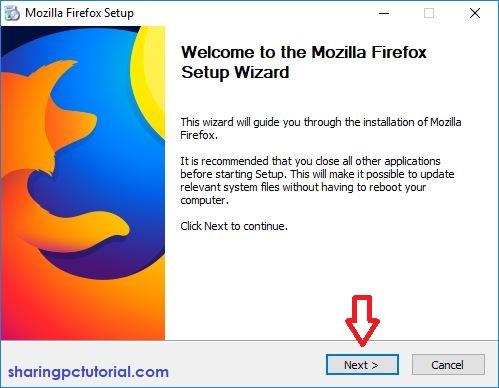 cara instal mozilla firefox di laptop