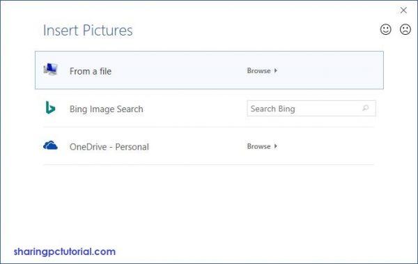 pilih from a file dan cari gambar