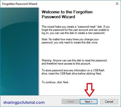 cara membuat password reset disk di windows 10