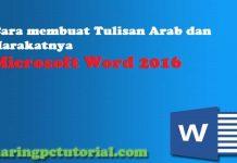 cara membuat tulisan arab di word