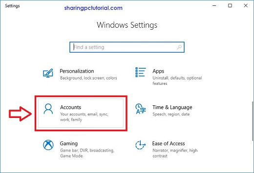cara mengganti password login komputer windows 10
