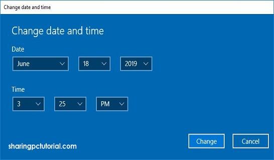 cara merubah jam dan tanggal di windows 10