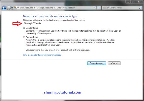 Membuat Local Account di Windows 7