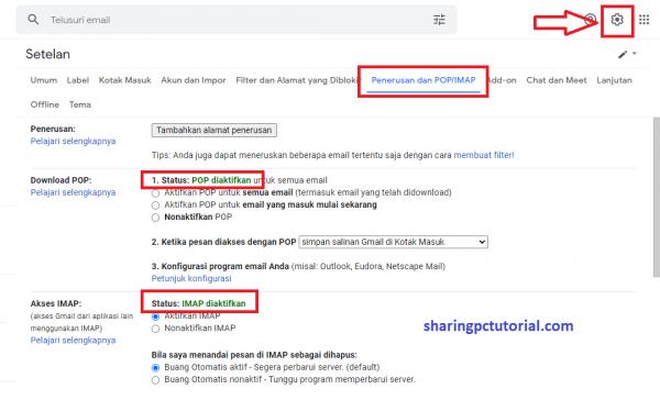 Cara setting Outlook untuk membuka Gmail